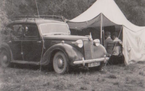 John Freeman's campsite in the 1950s