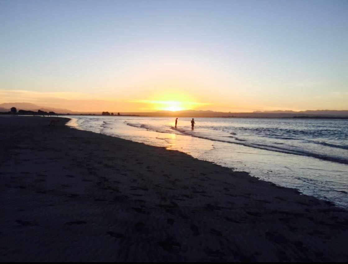 Sunset at Tahuna Beach in early 2015