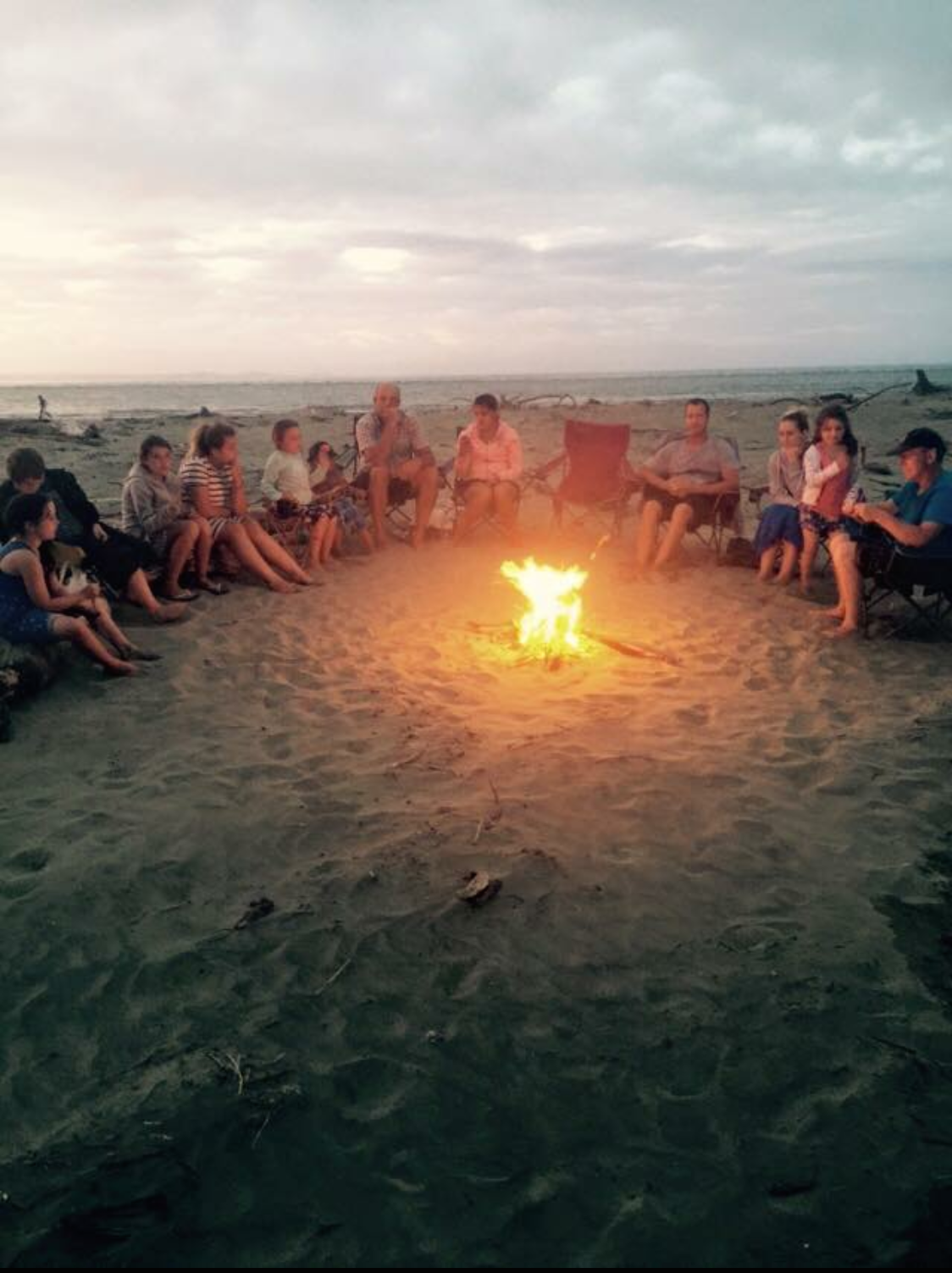 Bonfire on the back beach in 2014