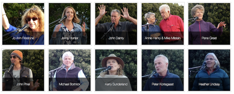 The Call of the Wild storytellers at Tahuna Beach Holiday Park