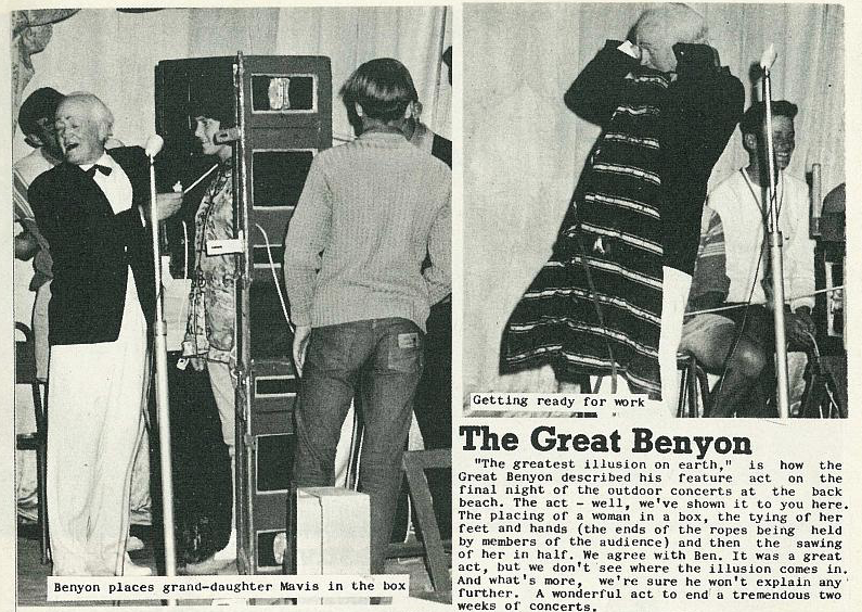 The Great Benyon featured in the 6 February 1971 edition of The Nelson Mail (courtesy Nelson Photo News)