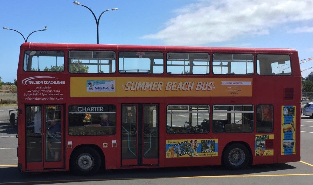 Catch the Summer Beach Bus with a gold coin ($2 for adults, $1 for children) to the Tahuna Beach Sculpture Walk Competition. Buses depart on the hour every hour between 9am and 8pm from Nelson i-SITE. The Tahuna Beach Sculpture Walk Competition is open to the public from 10am to 10pm everyday from Christmas Eve to 10 January 2017.