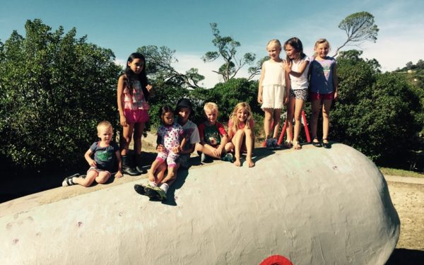 All the little cousins enjoying the Tahuna Beach whale