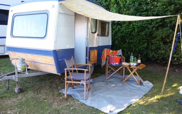 Ro Cambridge's caravan on holiday