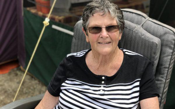 Jocelyn Robertson camping at Tahuna Beach Holiday Park