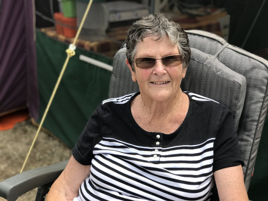 Jocelyn Robertson camping at Tahuna Beach Holiday Park